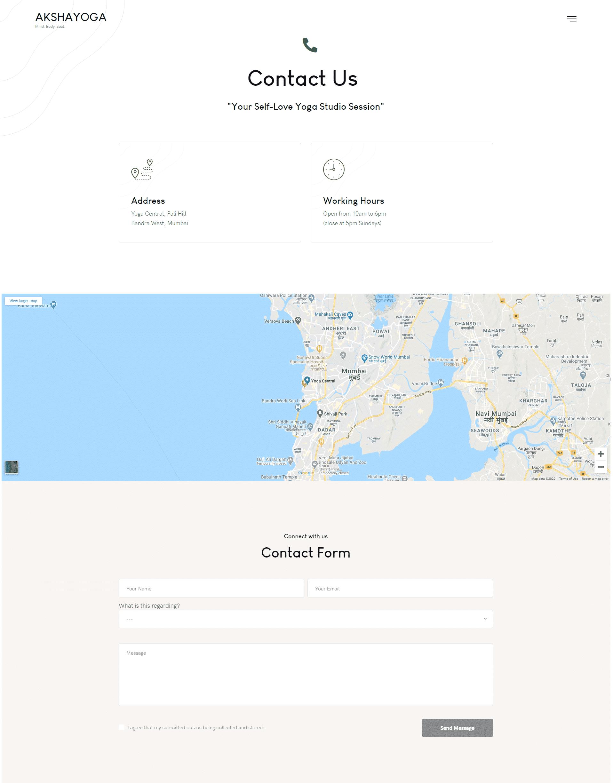 Yoga Web Design & Development Orangedge akshayoga website design 3 4