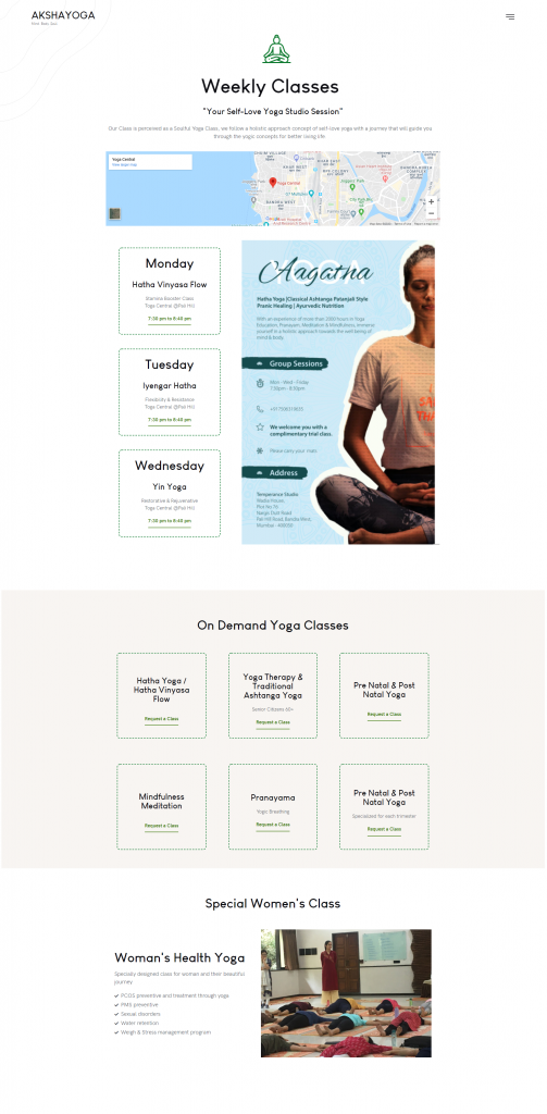 Yoga Web Design & Development Orangedge akshayoga website design 4 3