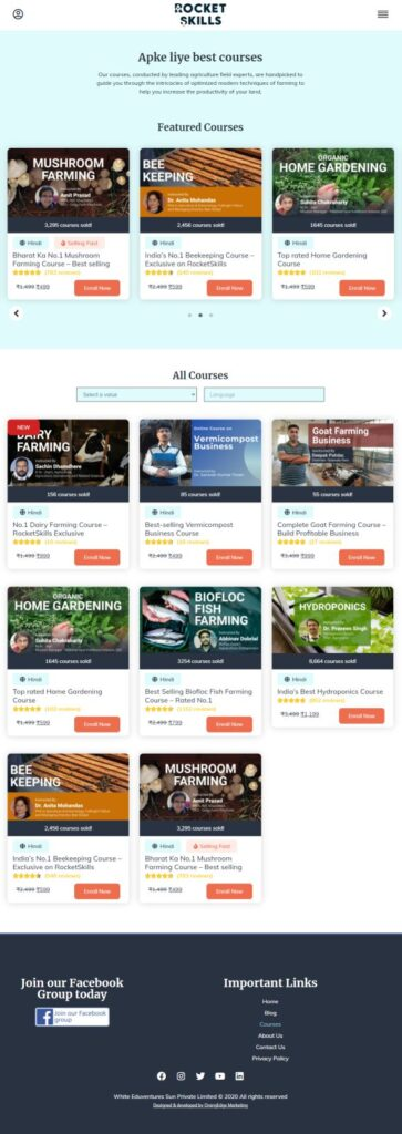 Rocket Skills : Edu-tech Web Design & Development Courses Rocket Skills 1 6