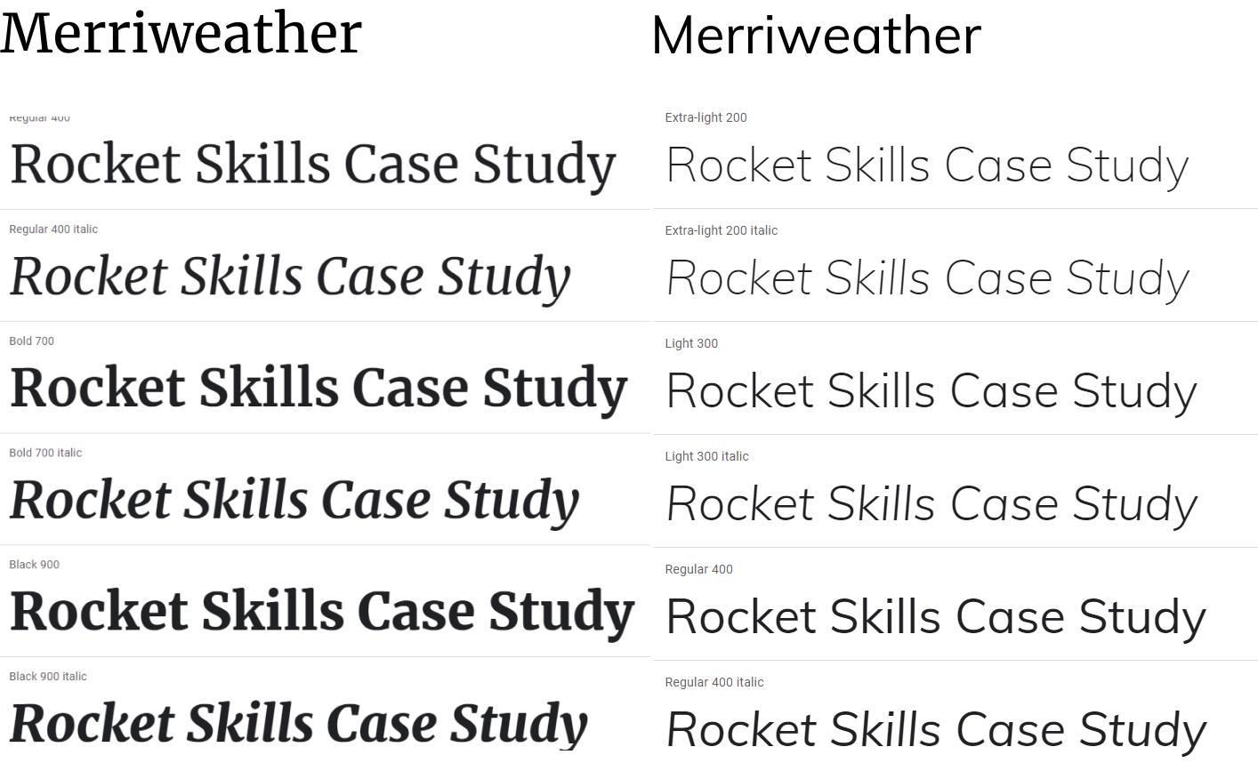 Rocket Skills : Edu-tech Web Design & Development Rocket skills web design fonts 5